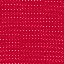 Bomuld lycra økotex med lille prik, rød hvid-20