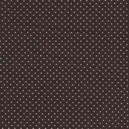 Bomuldlycrakotexmedlilleprikmrkebrunhvid-20