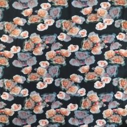 Bomuldsjersey økotex m/digitalt tryk i sort med roser-20