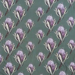 Bomuldsjersey m/digitalt tryk med artiskok blomst i lys flaskegrøn-20