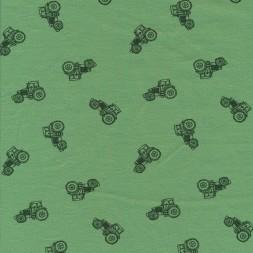 Bomuld/elasthan økotex grøn med traktor-20