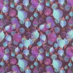 Bomuldsjersey GOTS digital print i blomme med beder-20