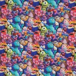 Bomuld/elasthan digitalt tryk med Monsters Inc-20