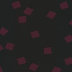 Bomulds jersey i sort med bordeaux firkanter-20