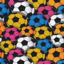Bomuldsjersey med fodbolde i carry blå hvid-20