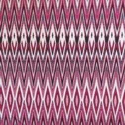 Polyester jersey med zig-zag mønster i hvid cerisse rosa-20