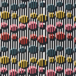 Bomuldsjersey med digitalprint med striber og cirkler-20