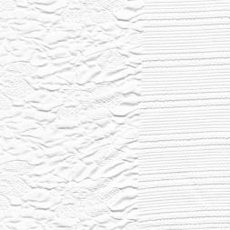 Jacquard jersey i hvid med blomster og elastikkant-20