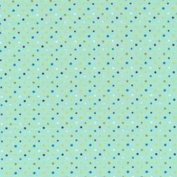 Bomuld/lycra økotex i mint med små prikker-20