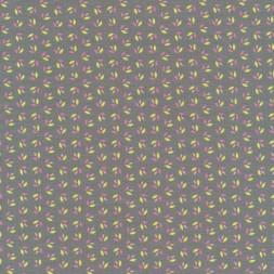 Bomuld/lycra økotex med små blade i grå-grøn, lyserød og lime-20