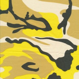 Bomuld/lycra økotex m/army-print i gul-20