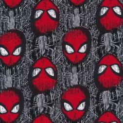 Bomuld/lycra økotex med Spiderman maske i grå og rød-20