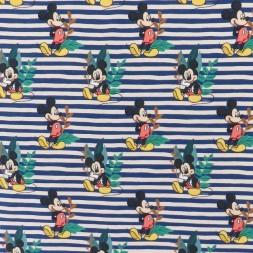 Bomulds jersey med digitalt tryk stribet med Mickey-20