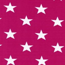 Bomuld/lycra økotex m/stjerner pink/hvid-20