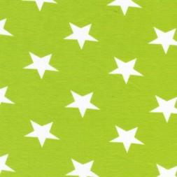 Bomuld/lycra økotex m/stjerner lime/hvid-20