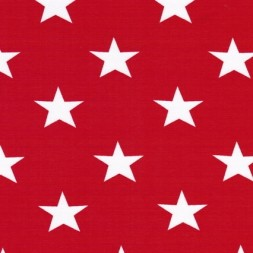 Bomuld/lycra økotex m/stjerner rød/hvid-20