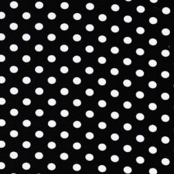 Bomuld/lycra økotex m/prikker, sort/hvid-20