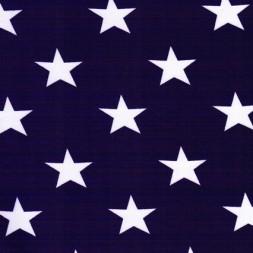 Bomuld-lycra økotex med stjerner mørkelilla og hvid-20