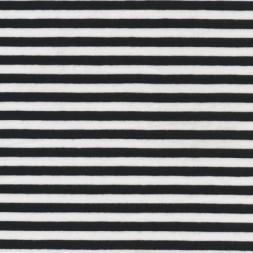 Bomuld/lycra økotex stribet sort/hvid 6 mm.-20