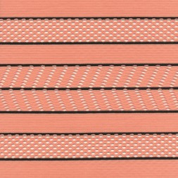 Rest Stribet med net i laks og sort 75 cm.-20