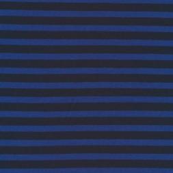 Rest bomulds-jersey stribet marine og klar blå 75 cm.-20