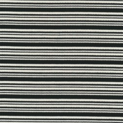 Rest ribstrikket bomulds-jersey stribet sort og hvid 75 cm.-20