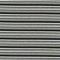 Ribstrikket bomulds-jersey stribet sort og hvid-20