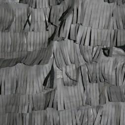Rest Imiteret læder m/frynser, grå 50 cm.-20