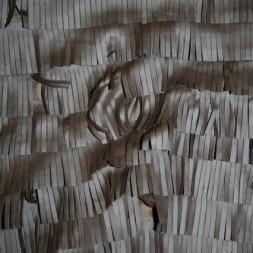 Rest Imiteret læder m/frynser, mørkebrun, 140 cm.-20