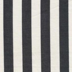 Liggestole stof stribet sort/off-white-20
