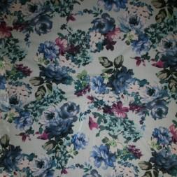 Rest Mesh med blomster aqua blå cerisse 85 cm.-20
