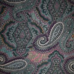 Rest Mesh med sjalsmønster og mønster flaskegrøn pink cerisse, 60 cm.-20