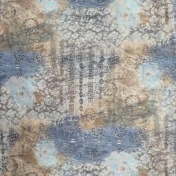 Mesh mønsteret i brun blå aqua-20