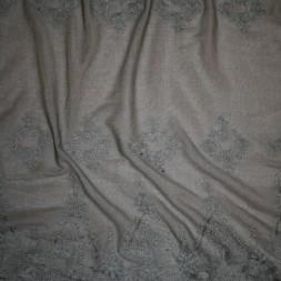 Rest Blød tyl m/broderi, grå-grøn, 75 cm.-20