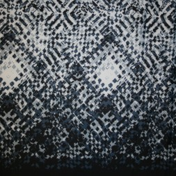 Neopren-jersey scuba, mønstret mørkeblå/lyseblå-20