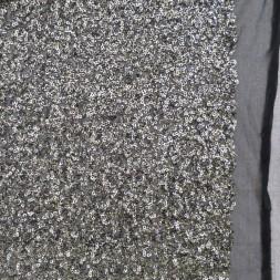 Paillet stof i gl.guld og sort på tyl-20
