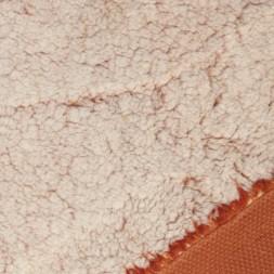 2-farvet pels/fleece knækket hvid-brændt orange-20