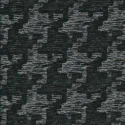 Bomuld/polyester i hanefjed sort/grå-20