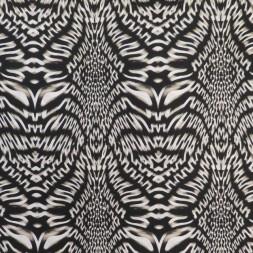 Let polyester med stræk mønstret i sort kit offwhite-20