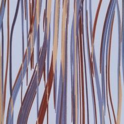 Stofrest i polyester lyseblå med uena striber