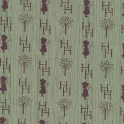 Patchwork Holly Hobbie country stof i grøn og brun-20