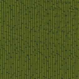 Afklip Patchwork stof med mønster af mursen striber mørk lime og mørkegrøn 50x55 cm.-20