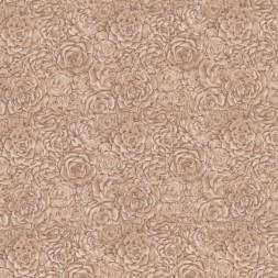 Afklip Patchwork stof med roser og i beige og brun 50x55 cm.-20