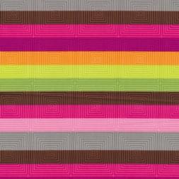 Afklip Patchwork stof med stribe firkanter og i pink, grøn og brun 50x55 cm.-20