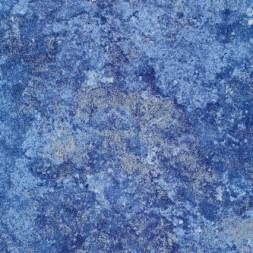 Patchwork stof batik med sølv, blå og lyseblå-20