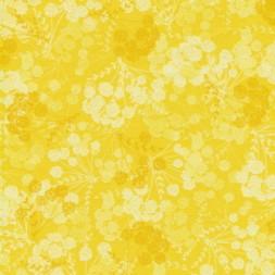 Patchwork stof med blomsterskærme i gul-20