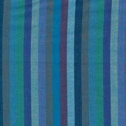Patchwork stof af Kaffe Fassett stribet Woven i blå, turkis og lilla-20
