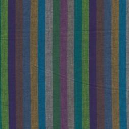 Patchwork stof af Kaffe Fassett stribet Woven i lilla, grøn og pink-20