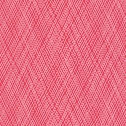 Afklip Patchwork stof med skrå striber i koral og lyserød, 50x55 cm.-20