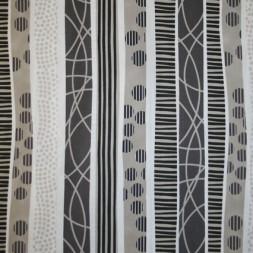 Patchwork stof i hvid, sort og sand med striber-20